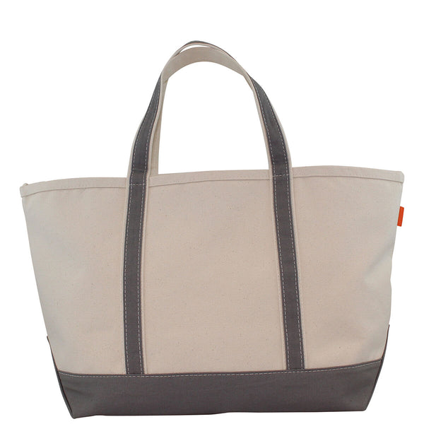 Large Boat Tote Gray