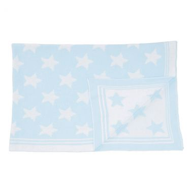 Blue Star Knit Blanket