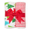 Christmas Set of 2 Burp Cloths