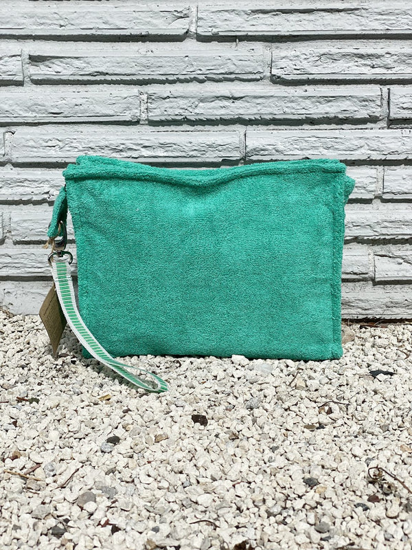 Small Emerald Terry Pouch