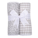 Grey Elephant Set of 2 Burp Cloths