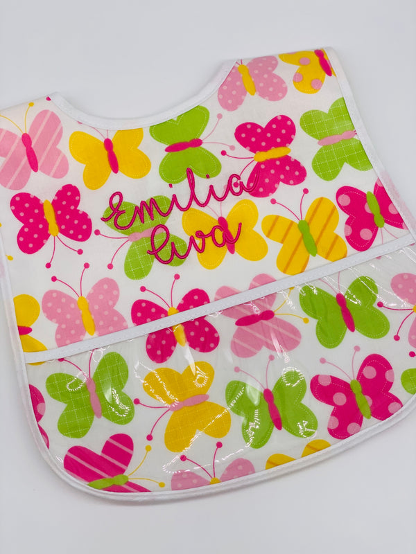 Butterfly Laminated Bib