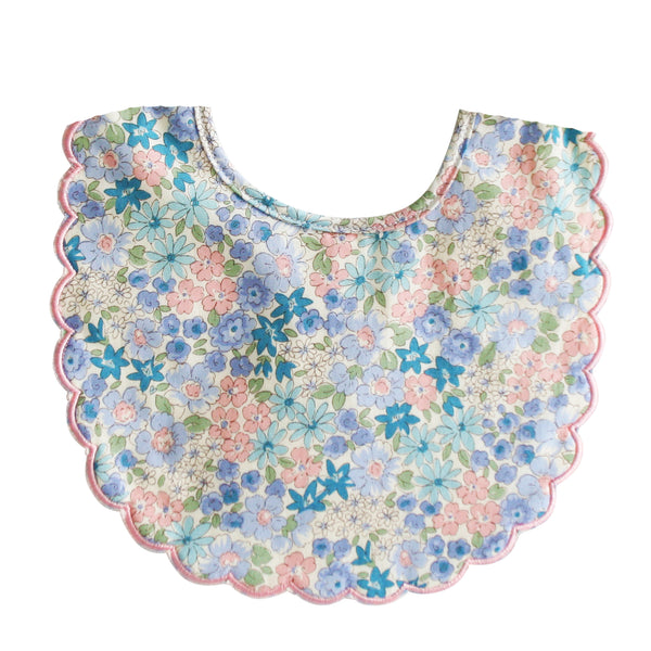 Liberty Blue Linen Bib