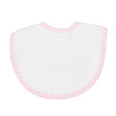 Pink Checkered Medium Terry Bib