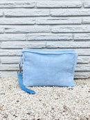 Large Serenity Blue Terry Pouch