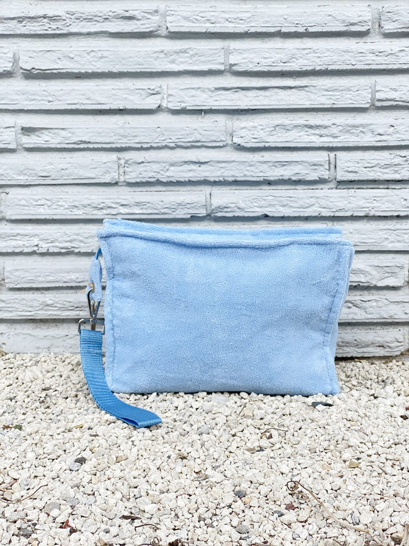 Small Serenity Blue Terry Pouch
