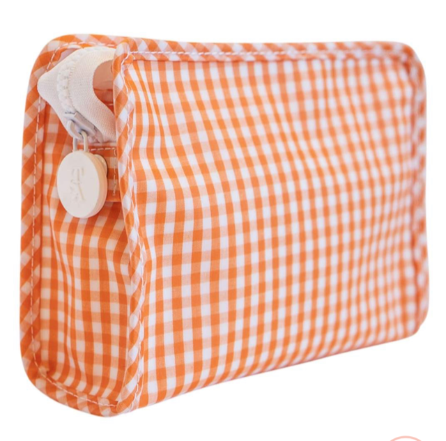 Orange Gingham Roadie Small