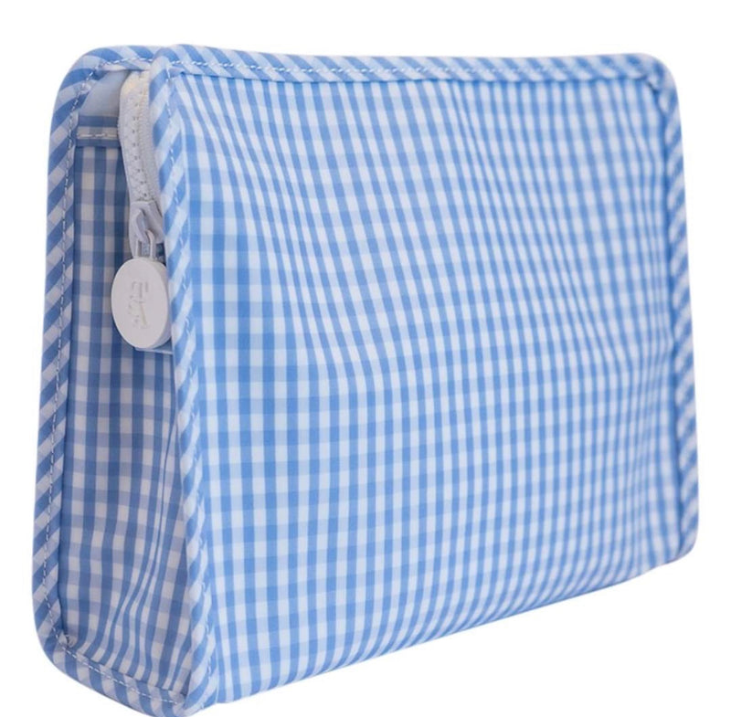 Blue Gingham Roadie Medium