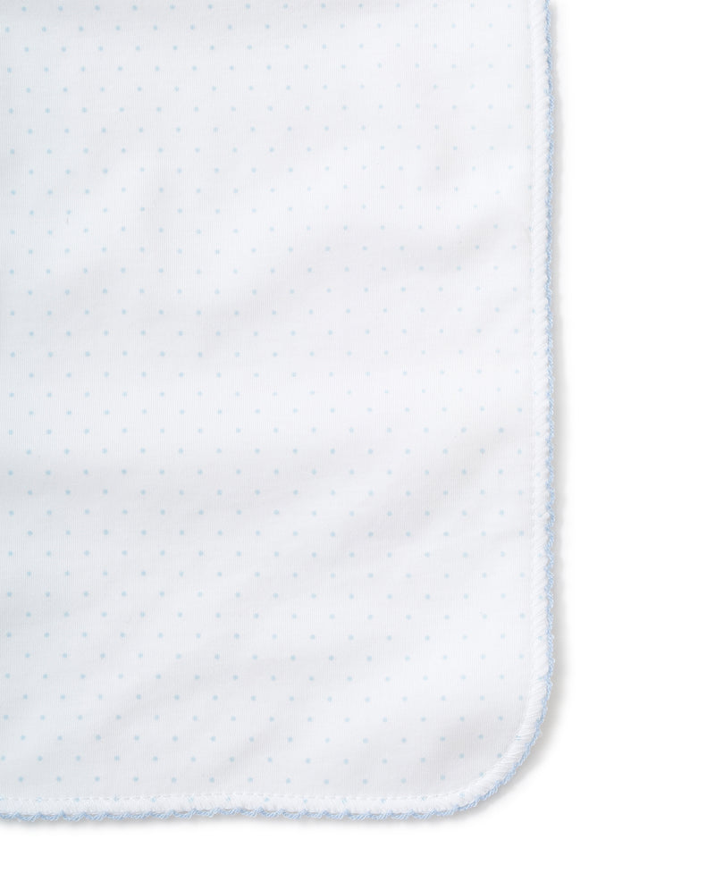 Blue Dots Burp Cloth