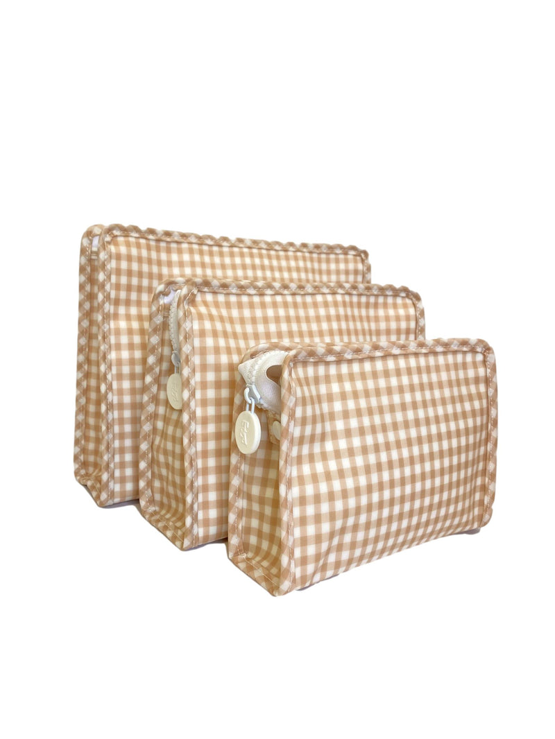 Small Roadie | Khaki Gingham