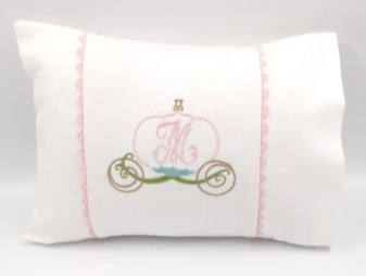 Pique Baby Pillow with Pink Trim