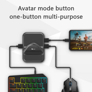 ONETOMAX Mobile Gamepad Controller (Gaming Keyboard+Mouse+Converter)