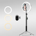 Load image into Gallery viewer, COMICA - 10 Inch Ring Light with Tripod Stand (for Live Stream/ YouTube)