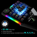 Load image into Gallery viewer, Delux T6 Folding Single Hand Mechanical Gaming keyboards (Ergonomic Design For Gamer)