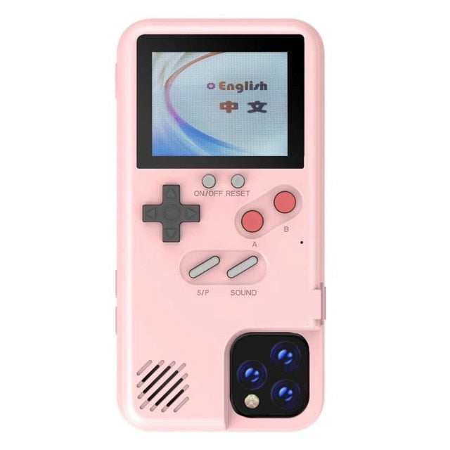 Gameboy Soft Phone Case Cover For iPhone X XR XS Max For iPhone 6 7 8 Plus Color Display 36 Classic Game Console Silicone Cover