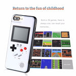 Load image into Gallery viewer, Gameboy Soft Phone Case Cover For iPhone X XR XS Max For iPhone 6 7 8 Plus Color Display 36 Classic Game Console Silicone Cover