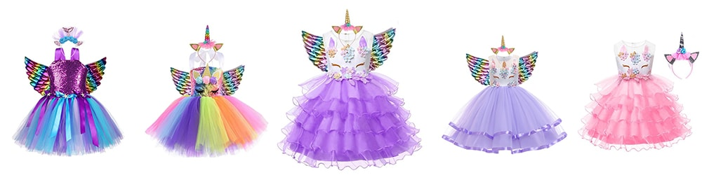 Collection robes licorne princesse