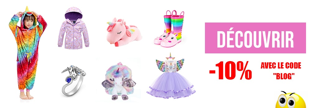 Réduction 10% sur la boutique licorne kawaii