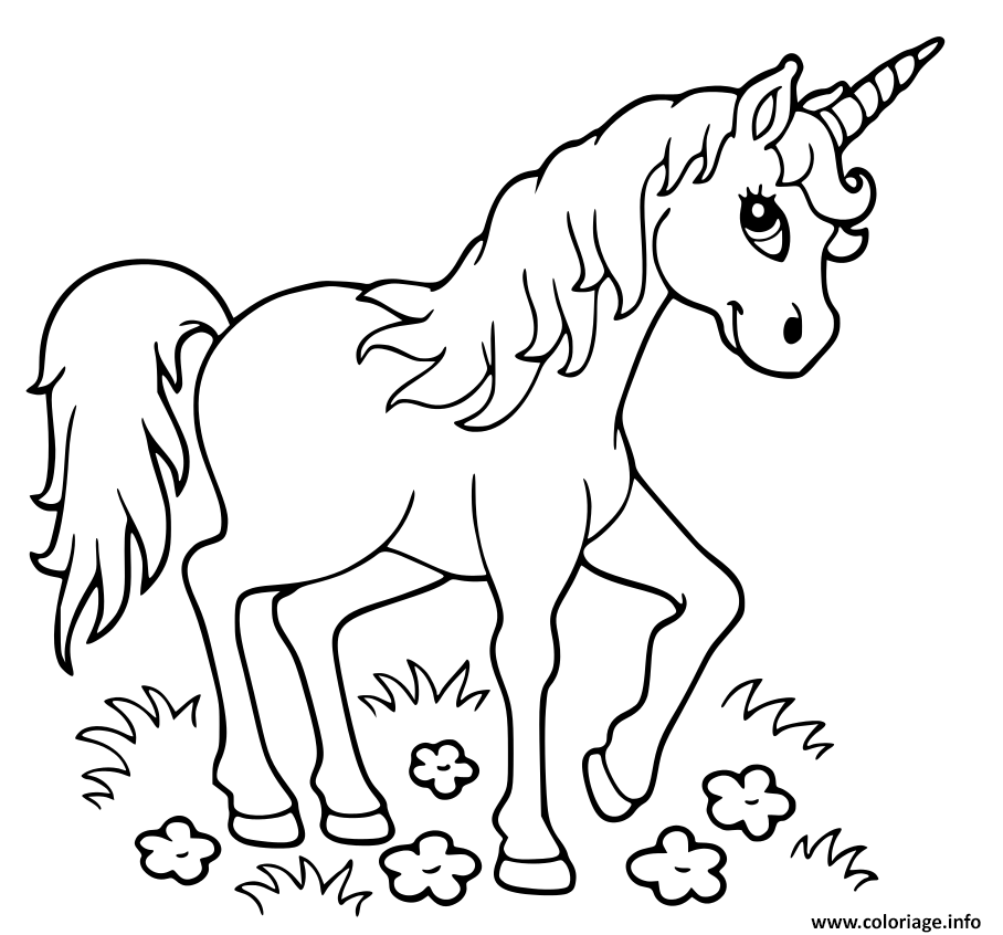 Top 20 Coloriages Licorne A Imprimer Licorne Kawaii