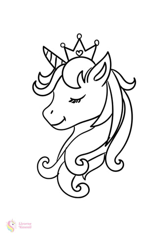 Top 50 Coloriages Licorne A Imprimer Licorne Kawaii