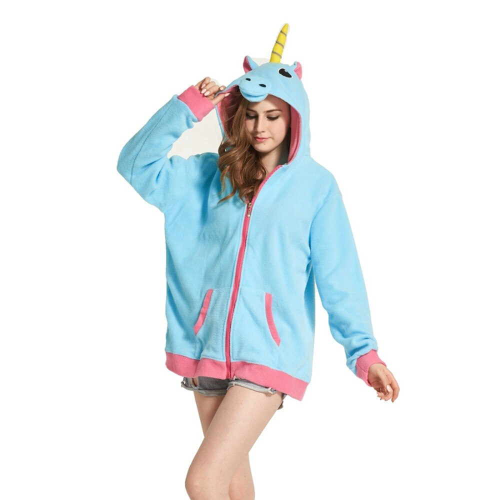 Sweat Licorne Bleu