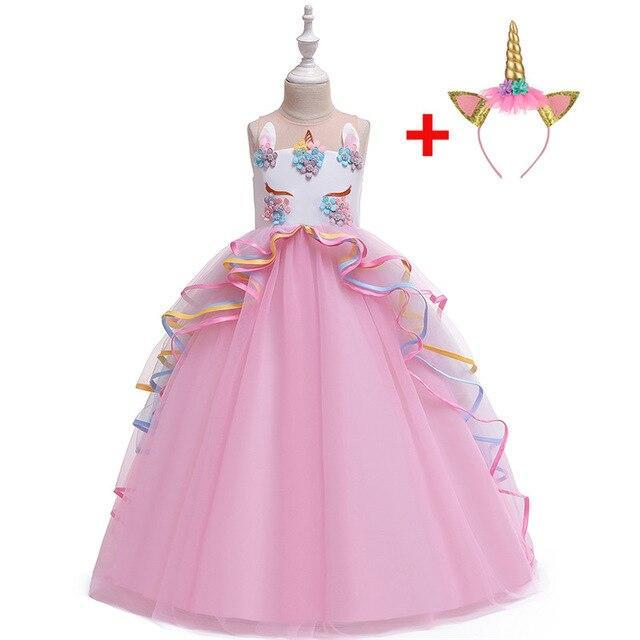 Robe Licorne de Princesse Rose