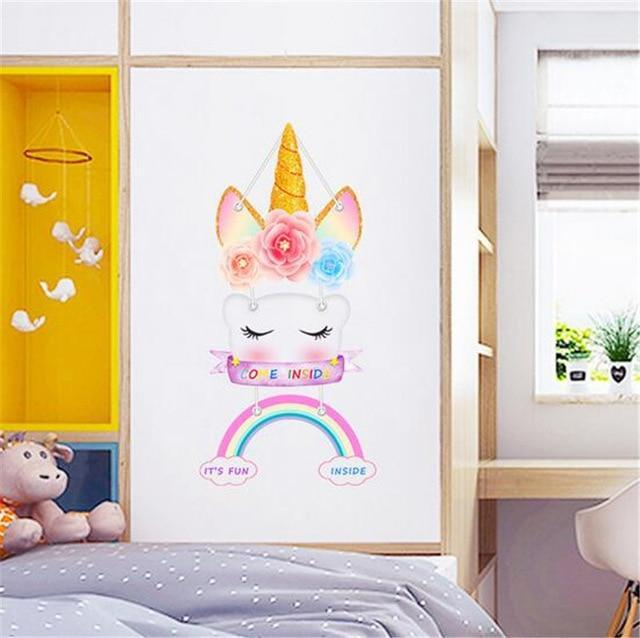 Stickers Mural Licorne Original