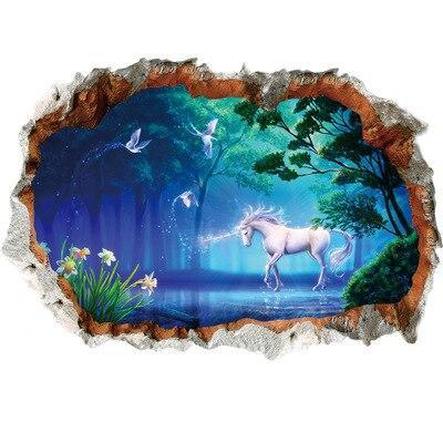 Stickers Mural Royaume de Licorne