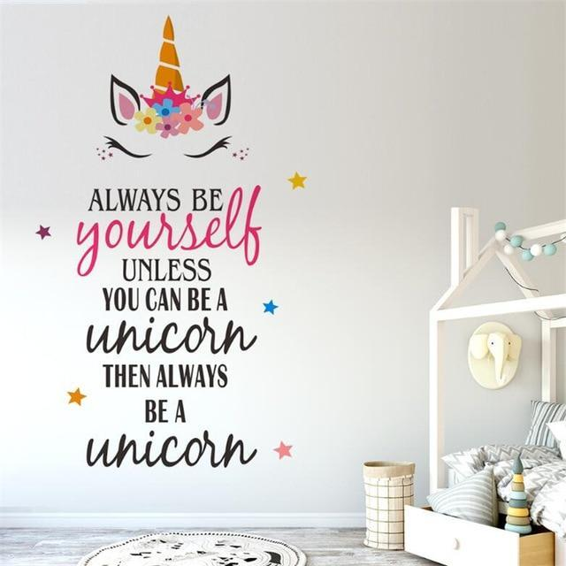 Stickers Muraux Motivation Licorne