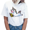T-shirt Femme Licorne Lecture