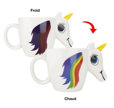Tasse Licorne Thermosensible <br>Change de Couleur - Licorne Kawaii
