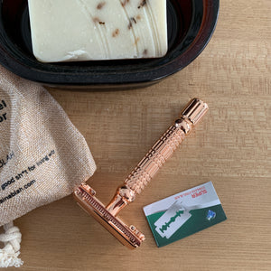 Stainless Steel Safety Razor - Rose Gold