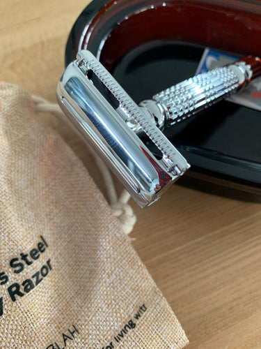 Stainless Steel Safety Razor - Silver