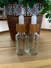 Load image into Gallery viewer, Clear Bamboo Dropper Bottles 3 Pack
