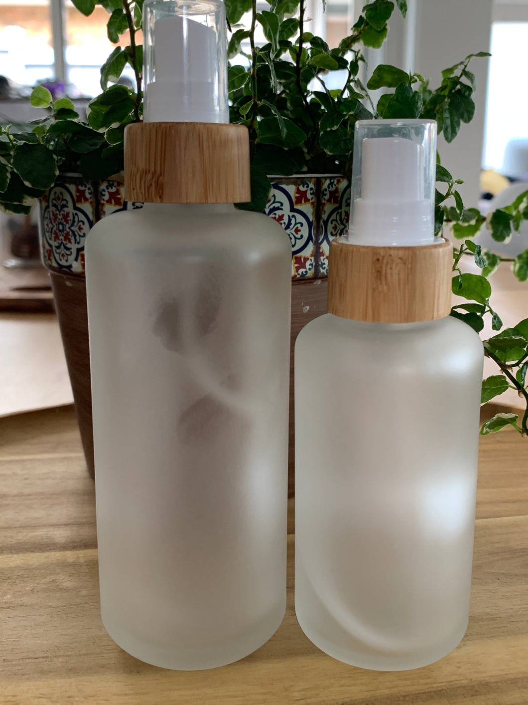 Frosted Bamboo Mist Bottles 2 Pack