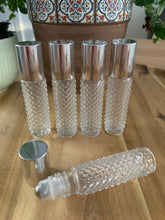 Load image into Gallery viewer, Diamond Glass 10ml Silver Cap Roller Bottles