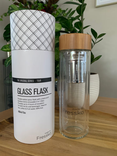 Fresko Glass Water Bottle 400ml