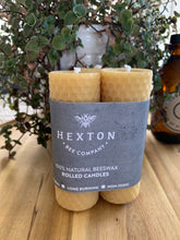 Load image into Gallery viewer, Beeswax Rolled Candles Set of 3 (35 x 105mm)