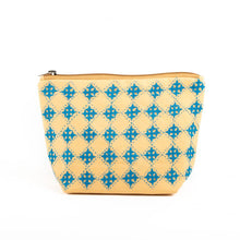Load image into Gallery viewer, Mustard Cotton Handcrafted Pouch Medium