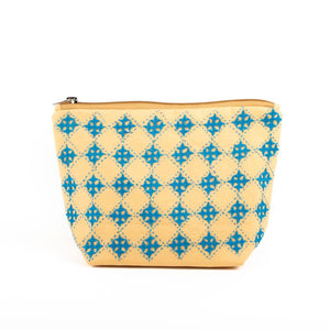 Mustard Cotton Handcrafted Pouch Medium