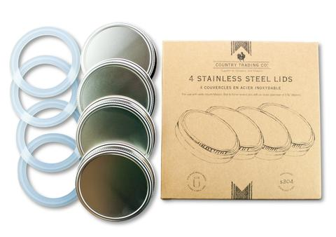 Stainless Steel Lids - Set of 4