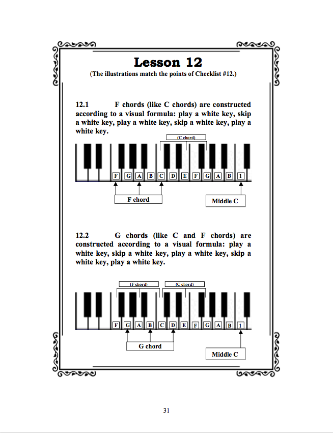 Teach Yourself Piano Sample Page