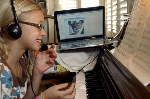 Webcam Piano Lessons Are Good For Kids