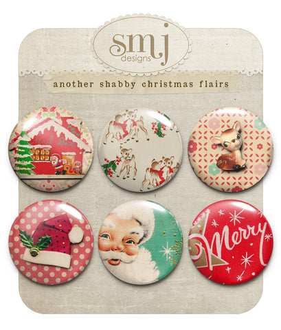 Another Shabby Christmas Flairs