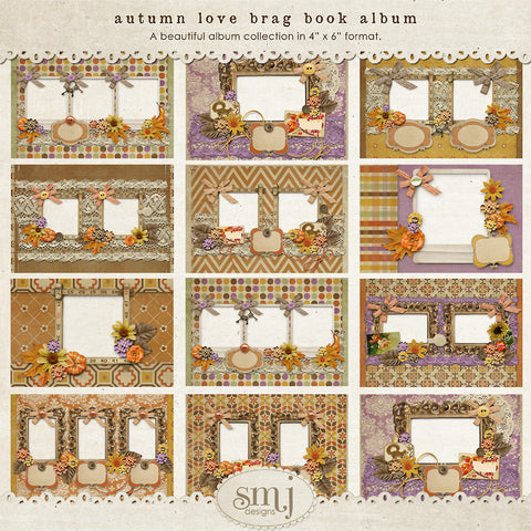 Autumn Love Brag Book Album