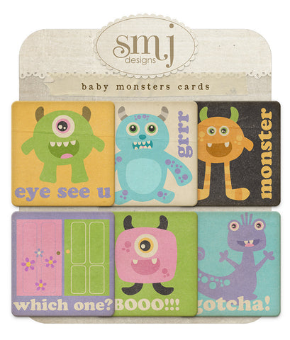 Baby Monsters Cards
