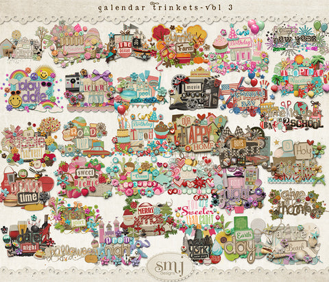 Calendar Holiday Trinkets Vol 3