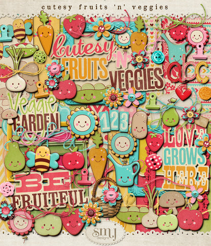 Cutesy Fruit 'n' Veggies