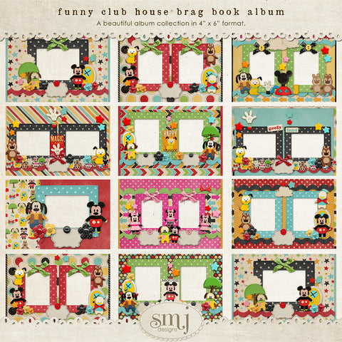Funny Club House Brag Book Album