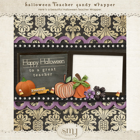 Halloween Teacher Candy Bar Wrapper FREEBIE